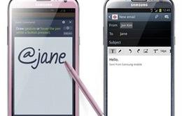 Samsung ra mắt Galaxy Note II phiên bản hồng nữ tính