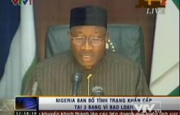Nigeria ban bố tình trạng khẩn cấp tại 3 bang