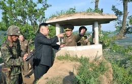 Nhà lãnh đạo Kim Jong-un thị sát biên giới