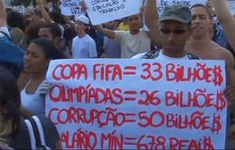 Biểu tình lớn tiếp diễn tại Brazil
