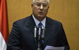 Tổng thống lâm thời Ai Cập cam kết khôi phục an ninh