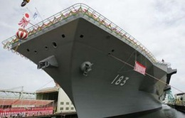 Nhật Bản ra mắt chiến hạm lớn nhất