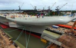 Ấn Độ hạ thủy tàu sân bay đầu tiên