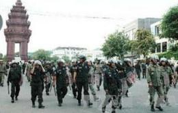 Campuchia huy động 4.000 cảnh sát đối phó với biểu tình