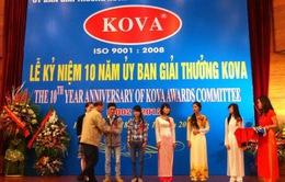 Lễ trao giải Kova cho các nhà khoa học