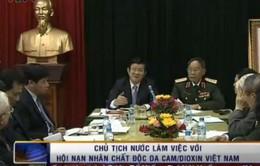 Chủ tịch nước làm việc với Hội nạn nhân chất độc da cam/dioxin Việt Nam
