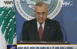 Quân đội Lebanon nhận khoản viện trợ lớn kỷ lục