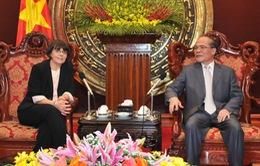 Chủ tịch Quốc hội Nguyễn Sinh Hùng tiếp Phó Chủ tịch Hạ viện Italy