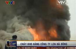 Vụ cháy lớn nhất năm 2014 tại Hà Đông được khống chế sau hơn 4 giờ