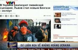 Dư luận Nga: Báo chí phương Tây đưa tin một chiều về khủng hoảng Ukraine