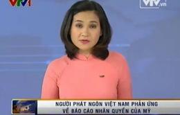 Người phát ngôn Việt Nam phản ứng về báo cáo nhân quyền của Mỹ