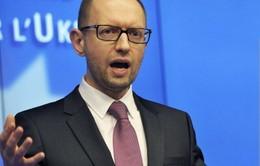 Thủ tướng Ukraine tuyên bố tới Mỹ thảo luận vấn đề Crimea