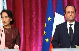 Tổng thống Pháp gặp thủ lĩnh phe đối lập Myanmar