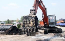 Phát hiện vụ chôn lấp và đốt rác thải trái phép khối lượng lớn