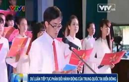 Hơn 1.000 sinh viên ĐH Sư phạm Huế phản đối hành động của Trung Quốc tại Biển Đông