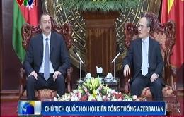 Chủ tịch Quốc hội Nguyễn Sinh Hùng tiếp Tổng thống Cộng hòa Azerbaijan