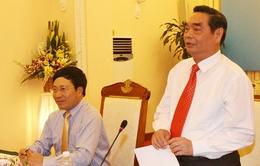 Đồng chí Lê Hồng Anh làm việc với Bộ Ngoại giao