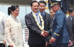 Thủ tướng Nguyễn Tấn Dũng đã tới Philippines dự Diễn đàn WEF Đông Á 2014