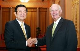 Chủ tịch nước Trương Tấn Sang tiếp Thượng nghị sĩ Benjamin Cardin