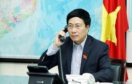 Phó Thủ tướng Phạm Bình Minh điện đàm với Đại diện cấp cao của EU về Chính sách Đối ngoại và An ninh