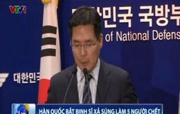 Hàn Quốc bắt giữ binh sĩ xả súng làm 5 người chết
