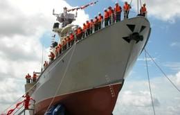Quân chủng Hải quân tiếp nhận hai tàu tên lửa hiện đại