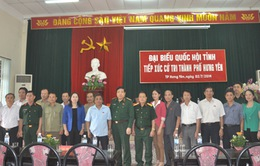 Đại tướng Phùng Quang Thanh tiếp xúc cử tri thành phố Hưng Yên