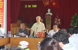 Tổng Bí thư Nguyễn Phú Trọng thăm và làm việc tại đảo Phú Quý