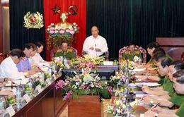 Phó Thủ tướng Nguyễn Xuân Phúc làm việc với Tổng cục cảnh sát phòng chống tội phạm