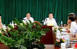 Chủ tịch nước làm việc với Ban Thường vụ Trung ương Hội Chữ thập đỏ Việt Nam