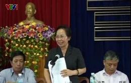 Phó Chủ tịch nước Nguyễn Thị Doan thăm gia đình chính sách ở Khánh Hòa