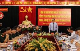 Chủ tịch Ủy ban MTTQ Nguyễn Thiện Nhân làm việc với Tổng cục Chính trị
