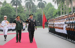Thượng tướng Đỗ Bá Tỵ hội đàm với Chủ tịch Hội đồng Tham mưu trưởng Liên quân Hoa Kỳ