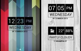 Những widget đồng hồ ấn tượng trên Android (P2)