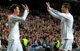 """Real đại thắng, Bale và C.Ronaldo được """"tâng"""" lên """"mây xanh"""""""
