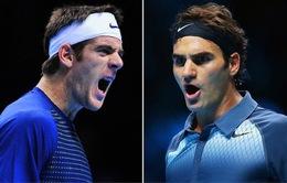 "ATP World Tour Finals 2013: Xuất sắc hạ gục ""khắc tinh"" Del Potro, FedEx ""hò hẹn"" Nadal ở bán kết"