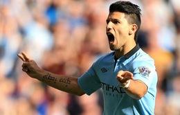 """Aguero: """"Số 1"""" tại Man City, xuất sắc nhất Premier League"""