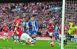 Nhọc nhằn hạ Wigan, Arsenal có vé dự chung kết FA Cup (VIDEO)