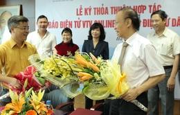 VTV Online và Dân trí đẩy mạnh hợp tác cùng phát triển