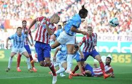 """Hòa """"hú vía"""" Malaga, Atletico Madrid đánh mất cơ hội đăng quang sớm tại La Liga (VIDEO)"""