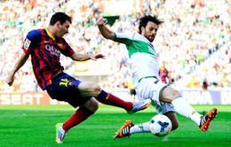"""Bất ngờ bị """"nhược tiểu"""" Elche cầm chân, Barcelona buộc phải chờ chung kết tại Nou Camp (VIDEO)"""