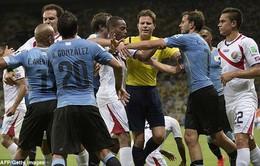 """Uruguay 1-3 Costa Rica: Địa chấn ở """"bảng tử thần"""""""