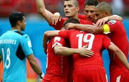Cập nhật kết quả bảng E ngày 26/6: Đại thắng Honduras, Thụy Sĩ giành vé đi tiếp của Ecuador