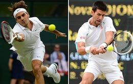 Novak Djokovic thư hùng với Roger Federer tại Chung kết Wimbledon 2014