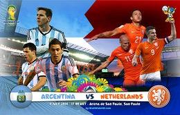 Argentina - Hà Lan: Ai sẽ viết tiếp hành trình chinh phục ước mơ? (3h, 10/7, VTV3 & VTV3HD)