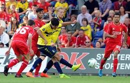 """Liverpool thua muối mặt trong trận đầu tiên thời """"hậu Suarez"""""""