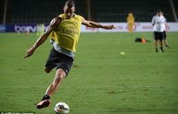 """Ibrahimovic lập """"siêu phẩm"""" đậm chất... võ thuật trên sân tập"""