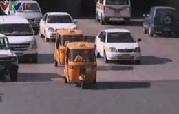 Xe tuk tuk được ưa chuộng ở Yemen