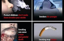 Từ 1/5, phải in cảnh báo trên bao bì thuốc lá