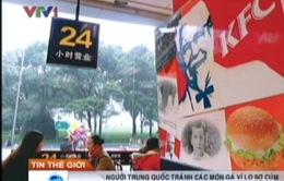 Người Trung Quốc tẩy chay KFC vì cúm